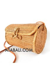 Ata big barrel bag with ribbon