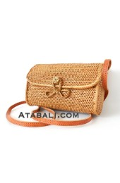 Ata long wallet bag with ribbon clip