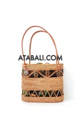 Ata rattan unique design handbag