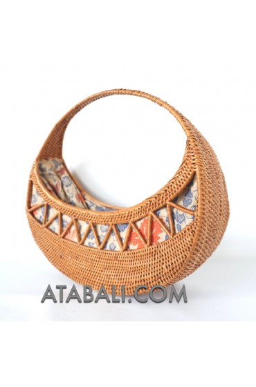 Ethnic Ata rattan unique style handwoven handbags shapes