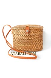 Ata tote bag long leather strap
