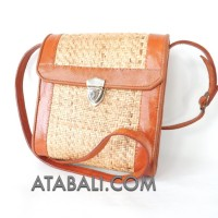 passport rattan sling bags leather long handle