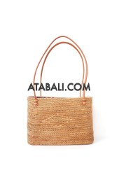 Women rattan handbag with lining