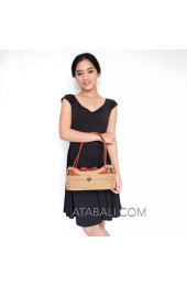 Ladies fashion handbags rattan straw ata grass balinese style