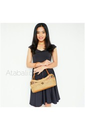 ladies fashion handmade rattan handbags straw ata unique