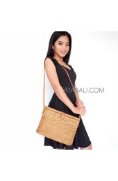 large size oval sling bags ladies fashion handmade square