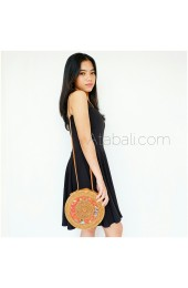 Ata round bag star pattern with lining limited edition