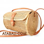 Ata medium barrel bag with leather clip