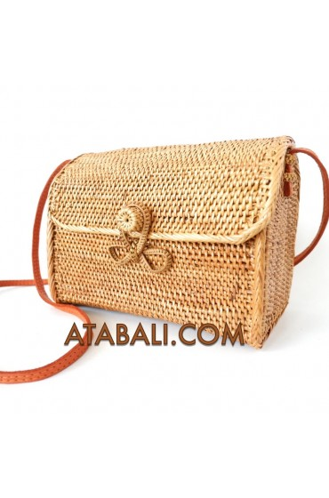 Ata large wallet bag with ribbon clip