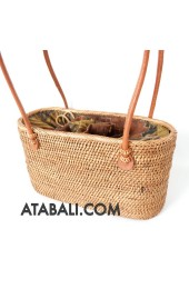 women handbags handwoven rattan natural design