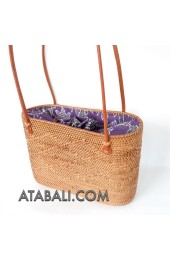 Ata rattan handwoven bag