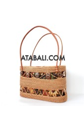 Ata rattan women handwoven bag ethnic design
