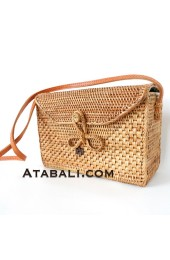 Ata rectangle bag with ribbon clip and lining