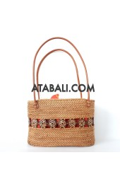 Ata unique women bag with coco wood