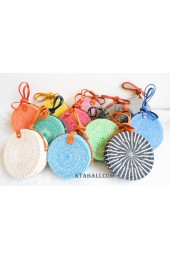 coloring rattan circle leather sling bags mix color wholesa lot