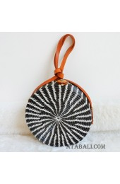 coloring rattan circle sling leather bags zebra motive