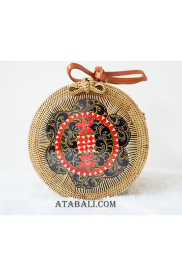 hand crafted wood deco sling bags rattan bali