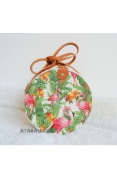 handmade decoration sling bags circle rattan bali