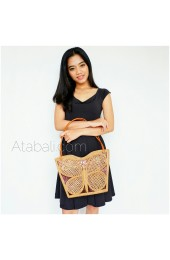shopping handbags ata rattan butterfly design full handmade