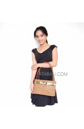 balinese casual design unique ata rattan handwoven handbag