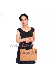 ladies shopping handbags ata rattan ethnic batik lining