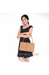 shopping handbags ata rattan women handwoven full handmade
