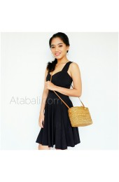 tote bags rattan ata ribbon clip sling long leather handmade