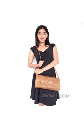 Ata travel sling bag with ribbon handmade ethnic style casual